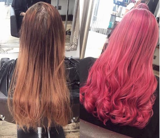 Mack hair colour rugby pink