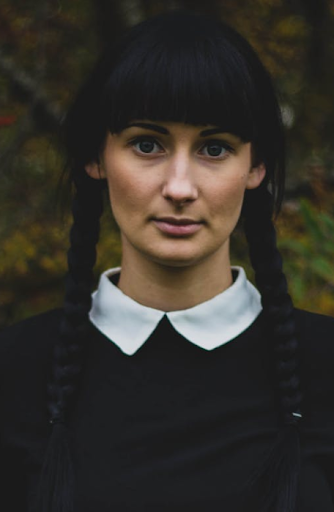 Mack Hair Rugby - Halloween Hair Wednesday Addams